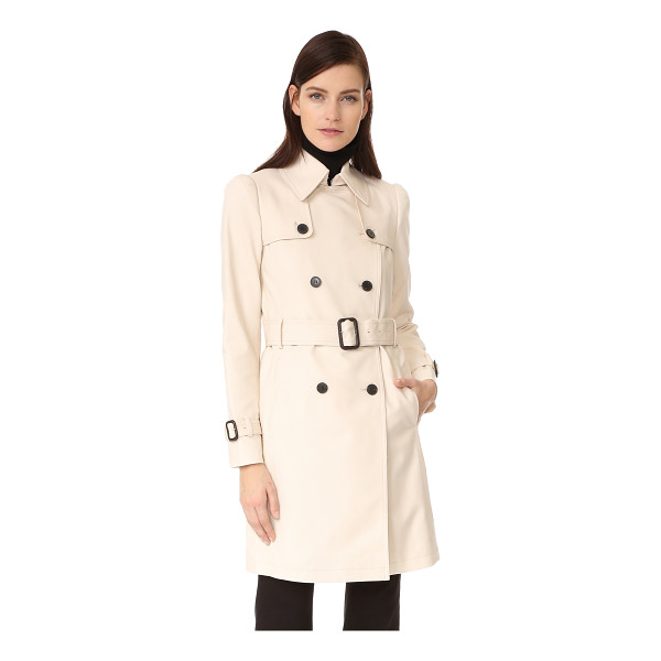 CLUB MONACO lamae trench - Weighty polished twill complements the classic lines of...