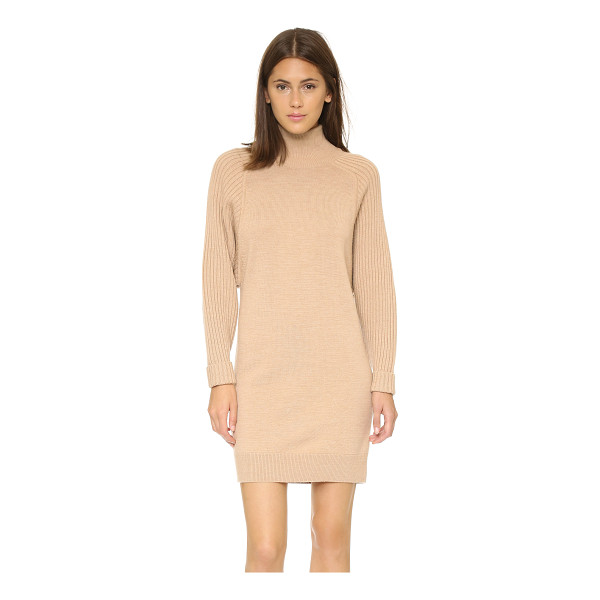 CLUB MONACO Raychel sweater dress - Oversized, ribbed long sleeves add to the slouchy look of...
