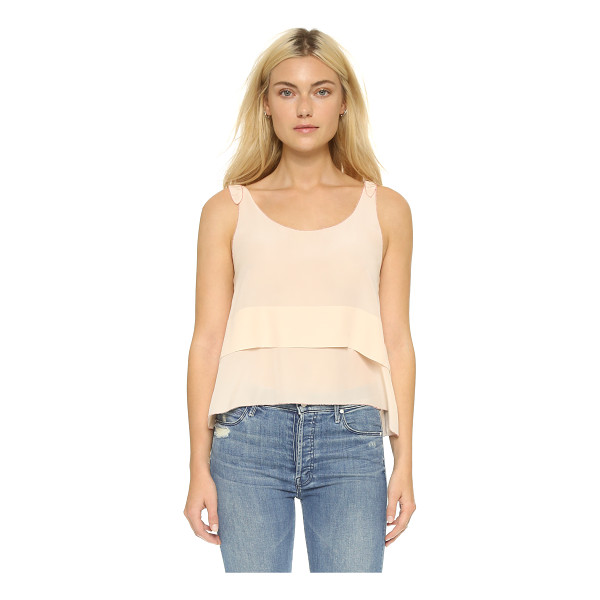 CLUB MONACO Salyie tank - Contrast embroidery details the edges of a delicate, washed...
