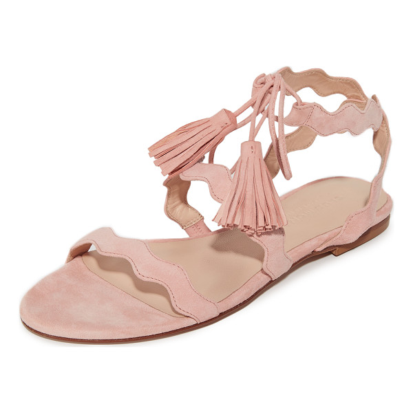 CLUB MONACO tiphanie sandals - Slim, scalloped straps add a charming touch to these suede...