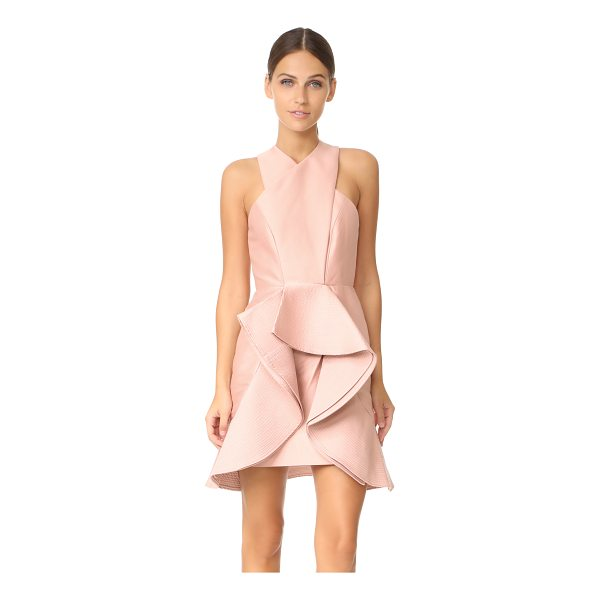 C/MEO COLLECTIVE extant dress - Bonded ruffles add asymmetrical structure to this striking...