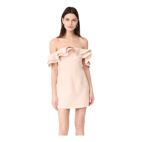 C/MEO COLLECTIVE first impression mini dress - NOTE: Unique sizing advice. Tiered ruffles trace the...