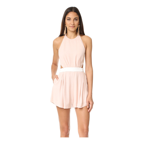 C/MEO COLLECTIVE sonder romper - NOTE: Runs large. A backless C/Meo Collective romper cut...