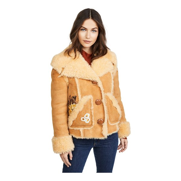 COACH 1941 eagle raggedy shearling jacket - This cozy shearling Coach 1941 jacket has a luxe, yet...