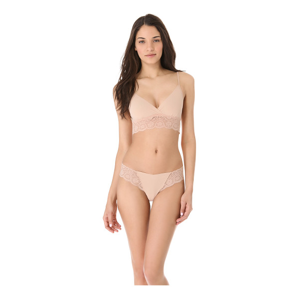 COMMANDO Tulip bralette - This jersey bralette features a crossover V neck and...