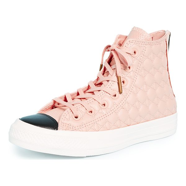 CONVERSE chuck taylor all star back zip high top sneakers - Quilted leather Converse high-top sneakers with a...