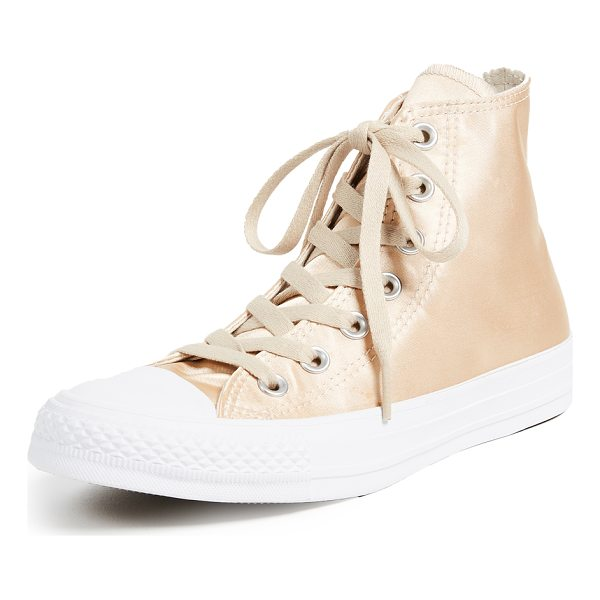 CONVERSE chuck taylor all star high satin sneakers - Classic Chuck Taylor high-top sneakers, updated in shimmery...