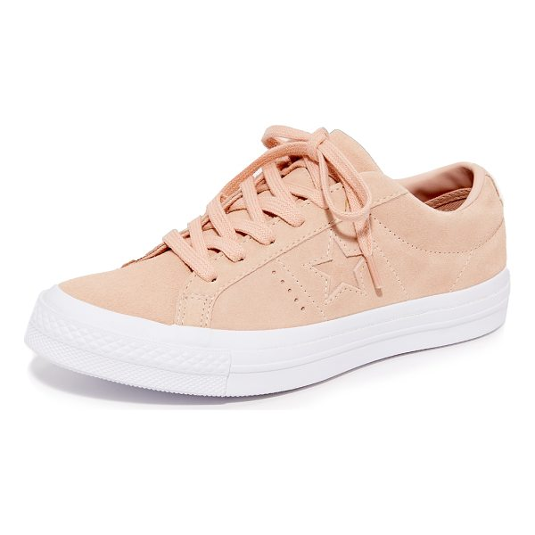 CONVERSE one star ox sneakers - These classic Converse sneakers are rendered in soft suede....