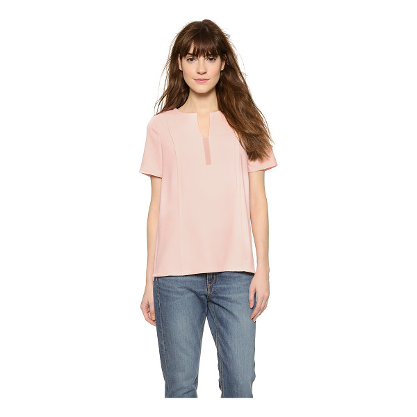 COOPER & ELLA Sadie panel tee - Paneled construction with overlapping seams creates a...