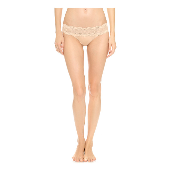 COSABELLA dolce lace bikini briefs - Lace and mesh detail the waist of cozy Cosabella panties,...