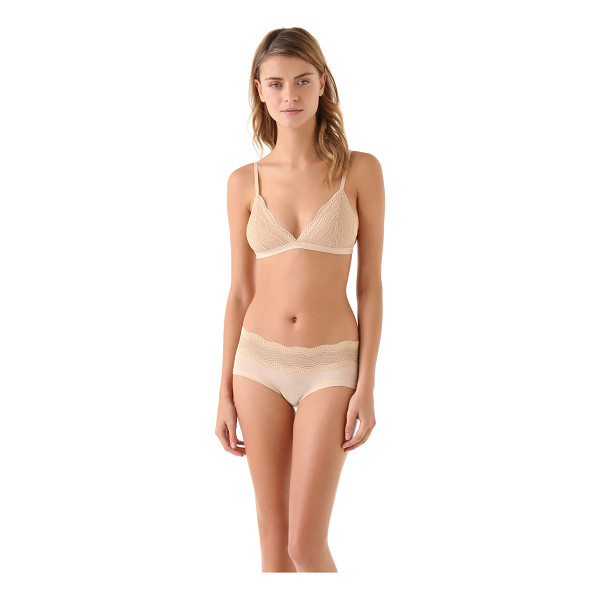 COSABELLA dolce soft bra - This stretch-lace bra features scalloped lace trim at the...