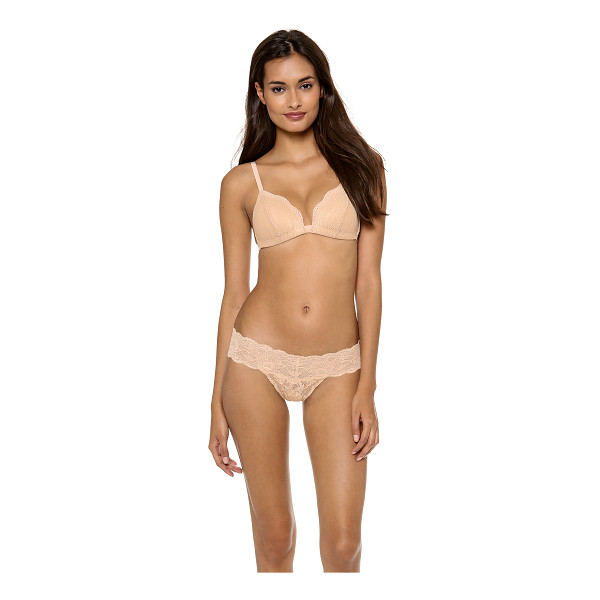 COSABELLA dolce triangle soft push up bra - A sexy, stretch-lace Cosabella bra with molded, padded...