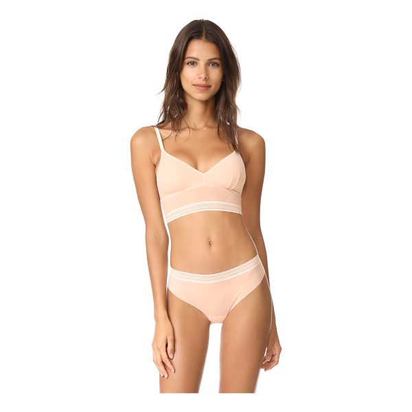 COSABELLA laced in aire longline bralette - This Cosabella bralette is accented with tonal lace at the...
