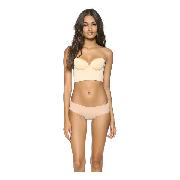 COSABELLA marni strapless plunge back bra - This strapless jersey bustier bra features corset boning...
