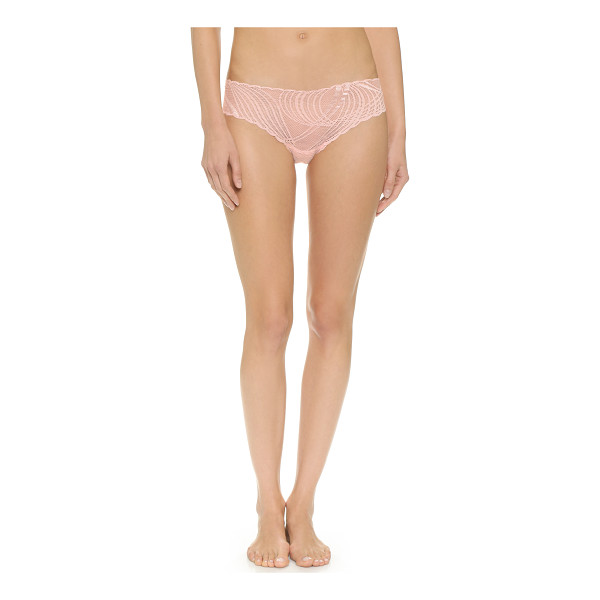 COSABELLA minoa low rise thong - A racy Cosabella thong in sheer lace, styled with scalloped...