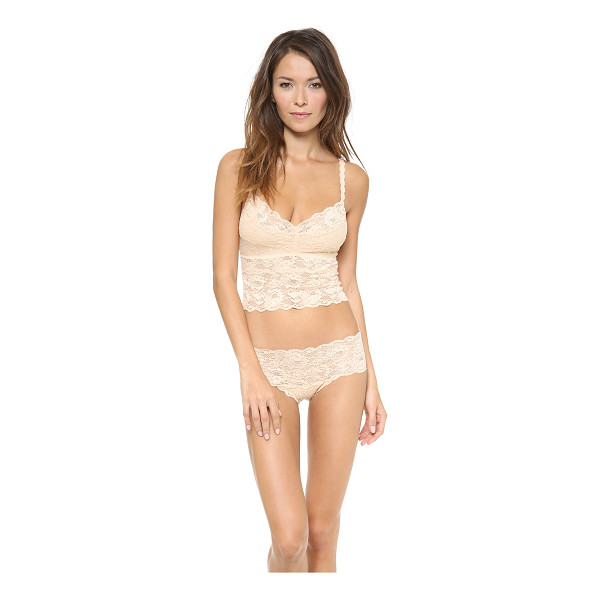 COSABELLA never say never cropped cami - A romantic Cosabella camisole, rendered in sheer lace....