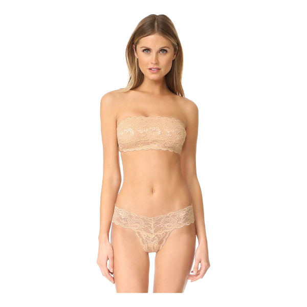 COSABELLA never say never flirty bandeau bra - This stretch-lace bandeau bra features side boning and...