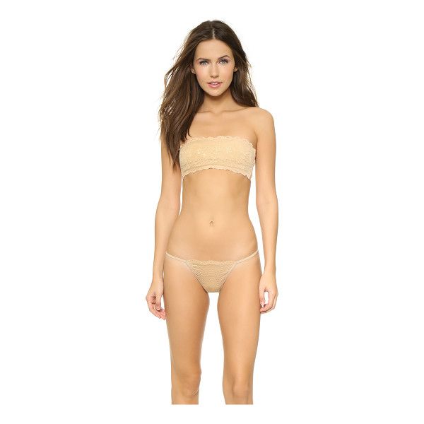 COSABELLA never say never padded flirtie bandeau bra - Delicate lace composes this bandeau-style Cosabella bra....
