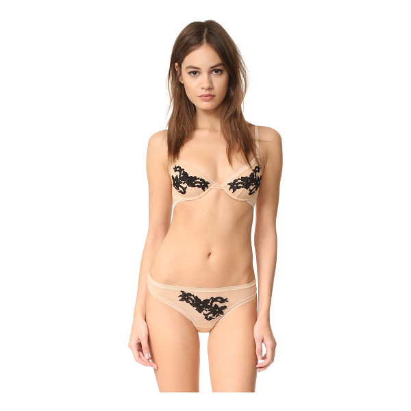 COSABELLA speakeasy underwire bra - Floral embroidery accents the front of this mesh Cosabella...