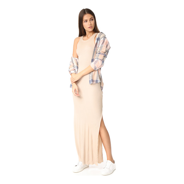 COTTON CITIZEN melbourne maxi dress - NOTE: Runs true to size. Soft, ribbed jersey composes this...
