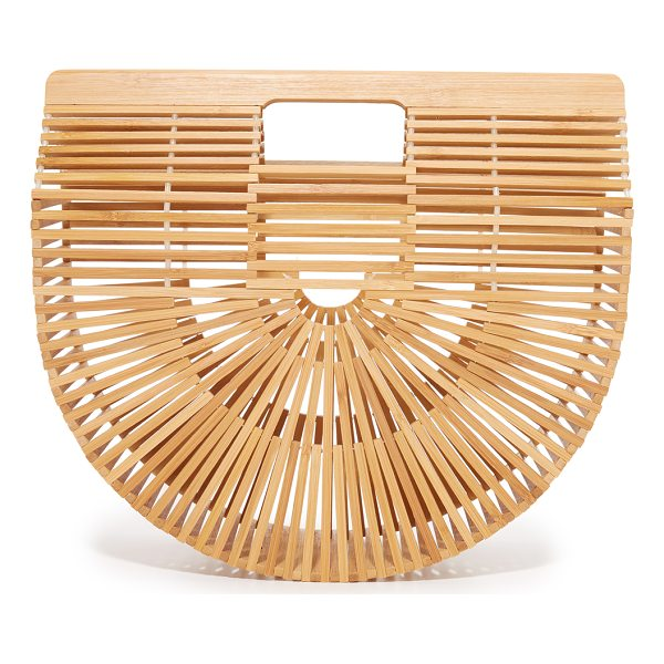 CULT GAIA gaia ark bag - This wooden Cult Gaia tote is detailed with a lattice ray...