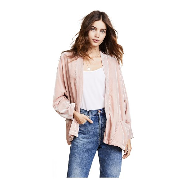 CUPCAKES AND CASHMERE chevelle dolman jacket - A lightweight cupcakes and cashmere jacket in soft velvet....