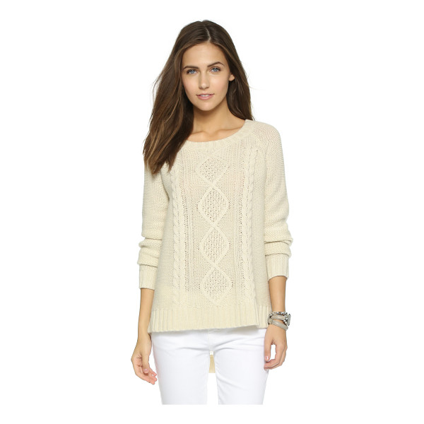 CUPCAKES AND CASHMERE Point reyes cable sweater - A relaxed cupcakes and cashmere sweater with classic cable...