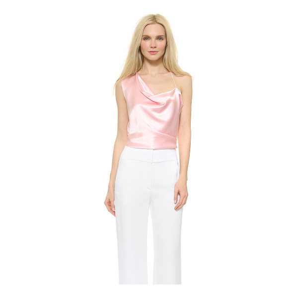 CUSHNIE ET OCHS Asymmetrical top - An effortless Cushnie et Ochs top composed of lustrous silk...