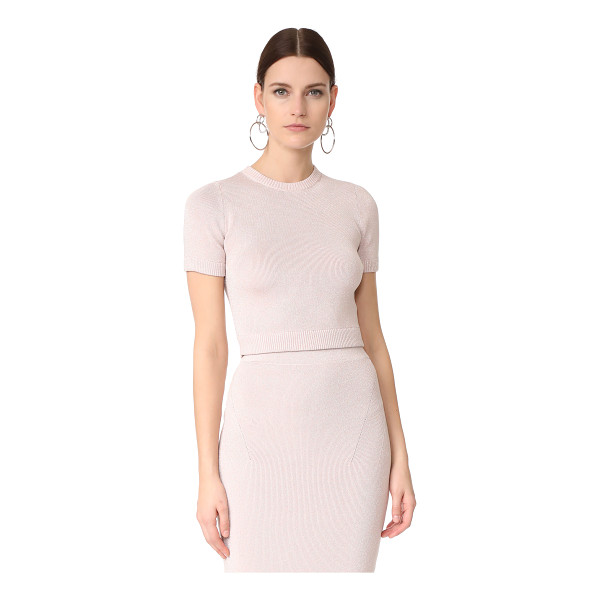 CUSHNIE ET OCHS cropped crew top - This formfitting Cushnie Et Ochs crop top has a speckled...
