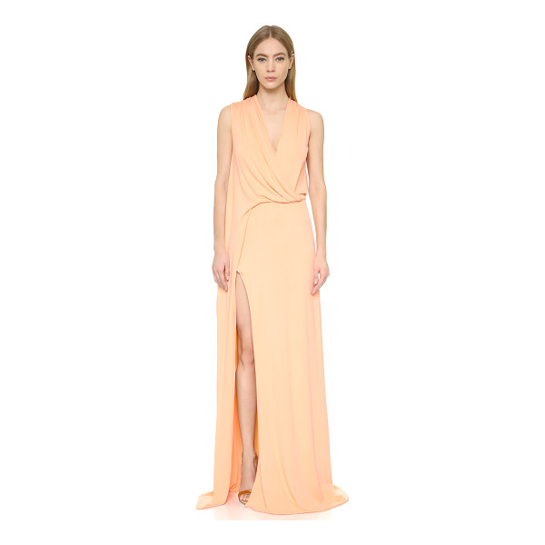CUSHNIE ET OCHS Pleated deep v gown - A luxe, slinky Cushnie et Ochs gown with an elegant...