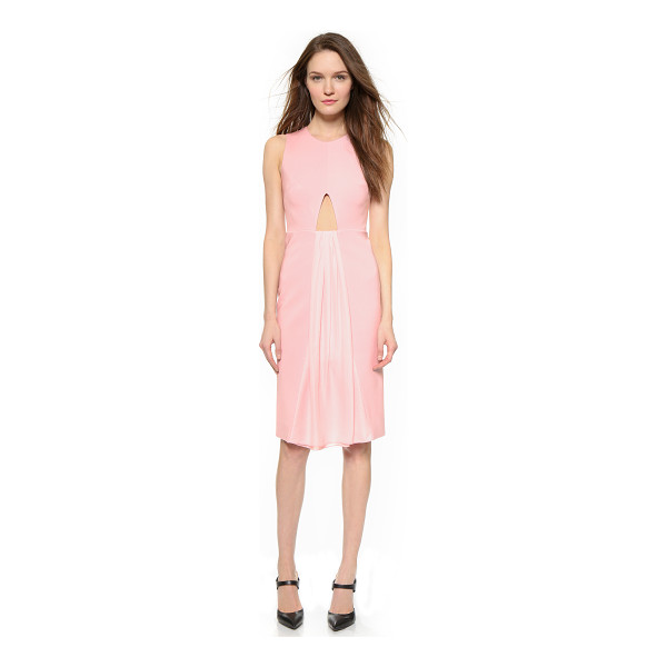 CUSHNIE ET OCHS Sleeveless dress - Gathered chiffon pours from an angular cutout on this...