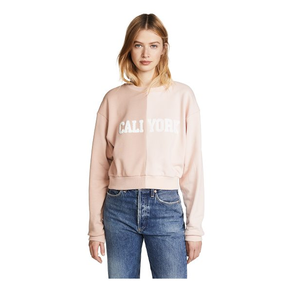 CYNTHIA ROWLEY cali york sweatshirt - Fabric: French terry Two-tone colorblocking Cropped profile...