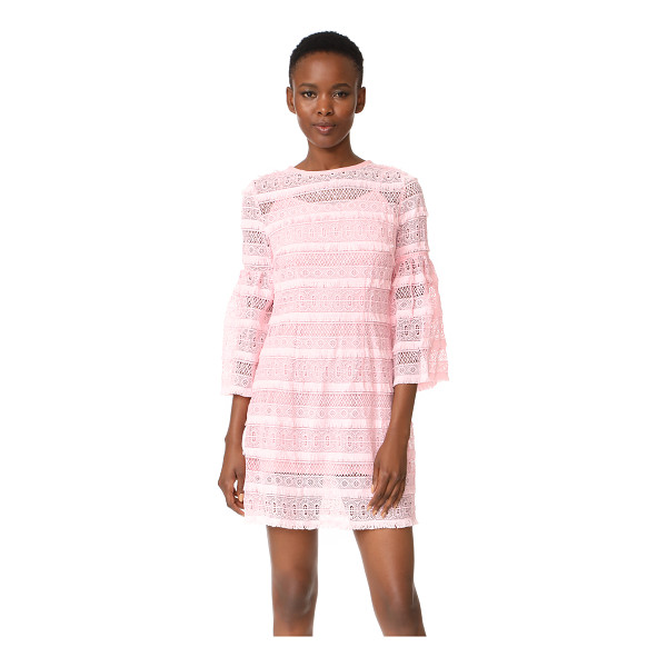 CYNTHIA ROWLEY eyelet bell sleeve dress - Texture-rich lace composes this crew-neck Cynthia Rowley...