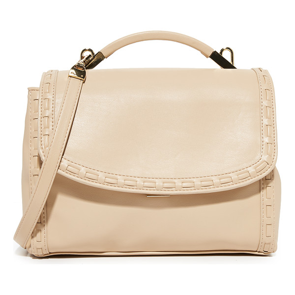 CYNTHIA ROWLEY gemma satchel - Whipstitching trims the edge of this faux-leather Cynthia...