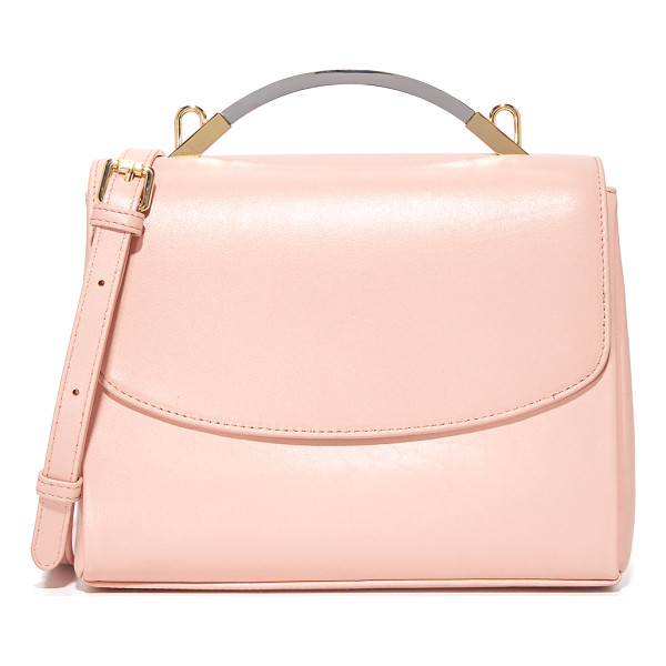 CYNTHIA ROWLEY gemma satchel - A mixed-metal handle tops this supple Cynthia Rowley