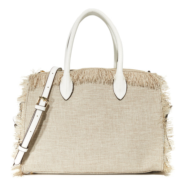 CYNTHIA ROWLEY miranda tote - A canvas Cynthia Rowley satchel styled with knotted side