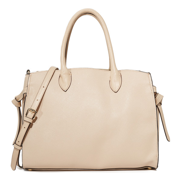 CYNTHIA ROWLEY miranda tote - A faux-leather Cynthia Rowley satchel styled with knotted...