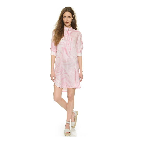 CYNTHIA ROWLEY Wrinkle print shirtdress - A trompe l'oeil wrinkle print lends an optical effect to...