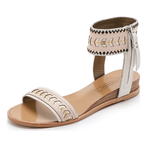 CYNTHIA VINCENT Fayette sandals - Metallic sections and pinked accents bring a playful touch...