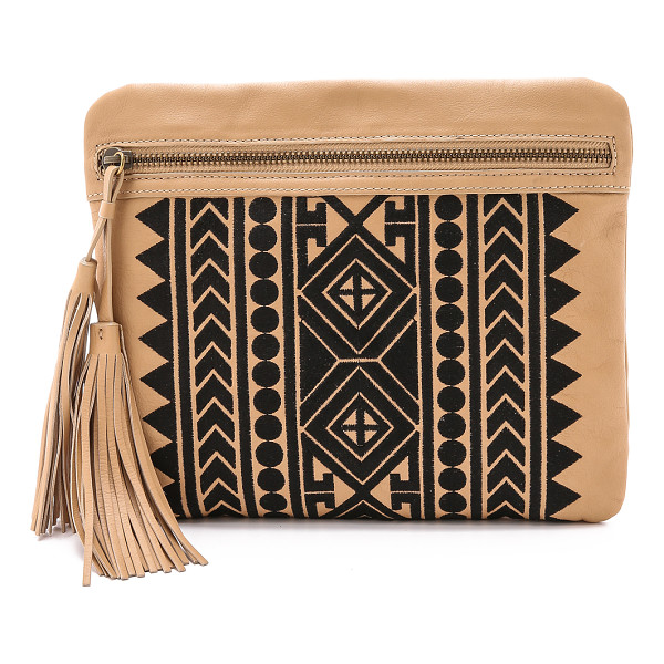 CYNTHIA VINCENT HANDBAGS Britt clutch - An exotic woven pattern lends an eye catching look to the