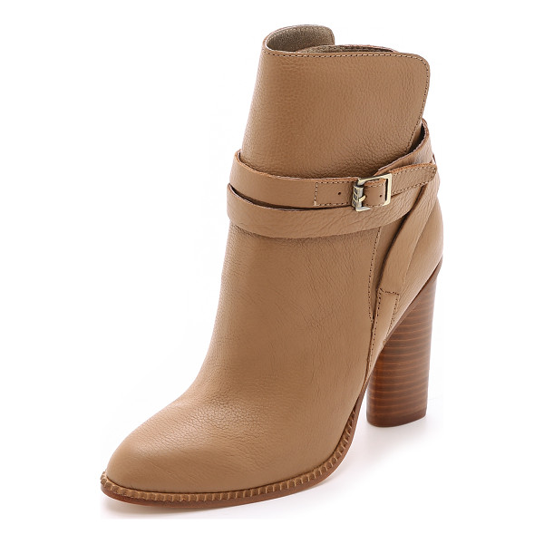 CYNTHIA VINCENT Hue booties - Cynthia Vincent booties in sturdy leather. A slim, buckled