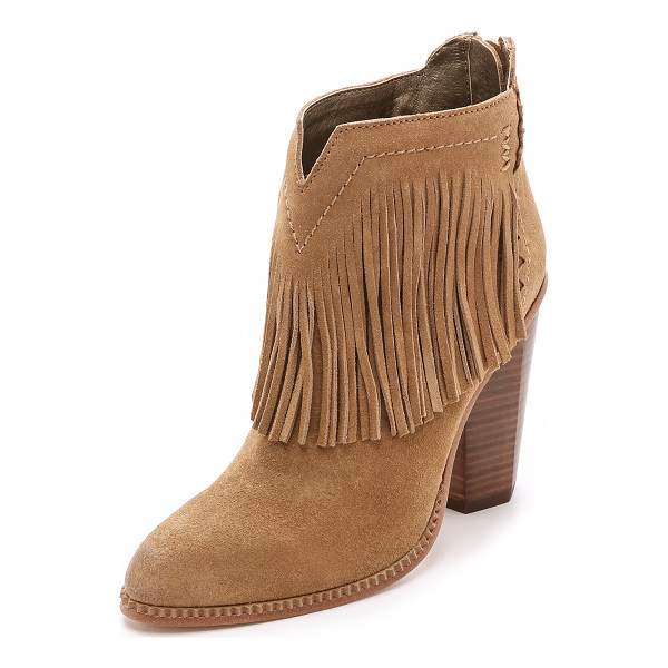 CYNTHIA VINCENT Native suede fringe booties - Fringe brings bohemian style to these suede Cynthia Vincent...