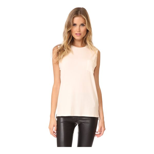 DAVID LERNER crew neck rolled muscle tee - This soft, slinky David Lerner muscle tee has fixed, rolled...