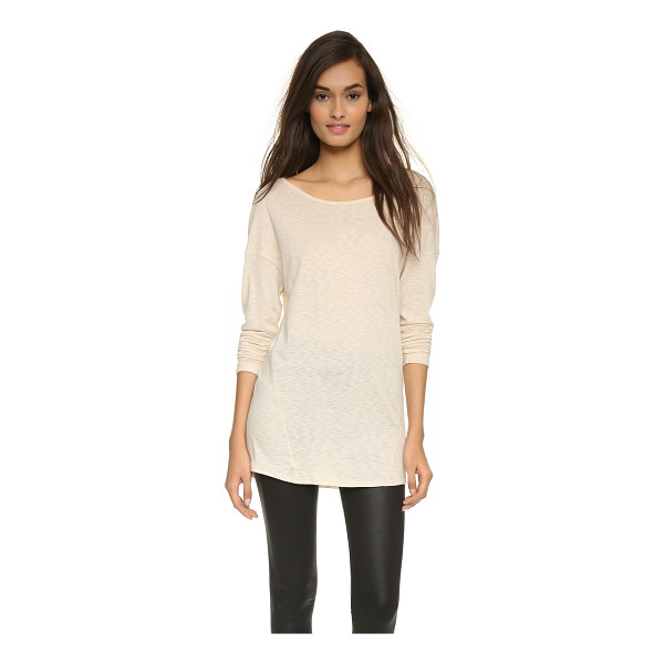 DAVID LERNER Wedge pullover - A boxy David Lerner pullover, styled with raised stitching....