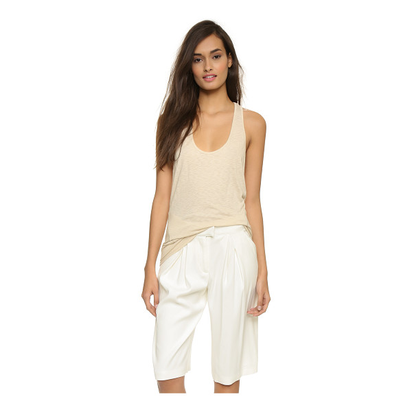 DAVID LERNER Wedge tank top - Raised stitching accents the seams of this relaxed David...