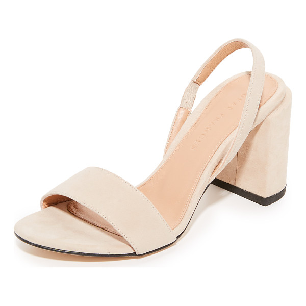 DEAR FRANCES ash heels - A chunky, covered heel adds sturdy lift to these suede Dear...