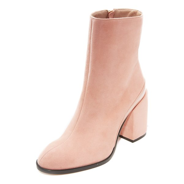 DEAR FRANCES spirit booties - Luxurious suede Dear Frances booties with patent leather...