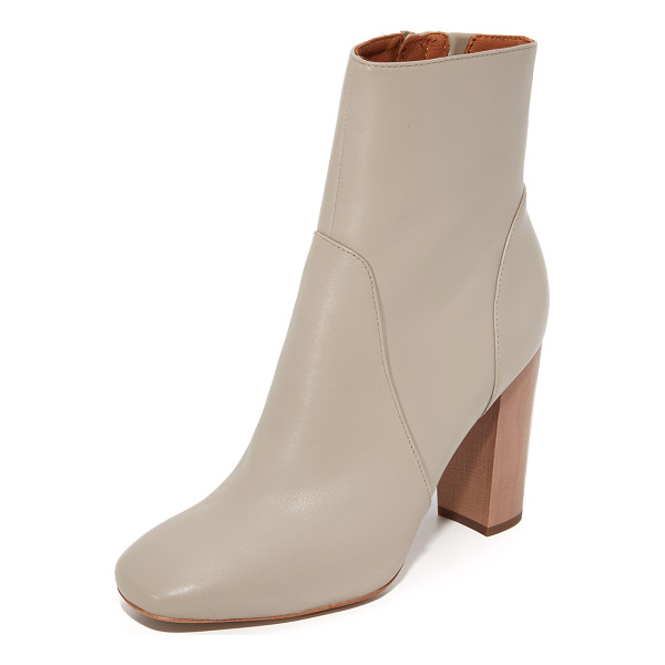 DEREK LAM 10 CROSBY alma booties - Sculpted panels lend a layered look to these smooth leather