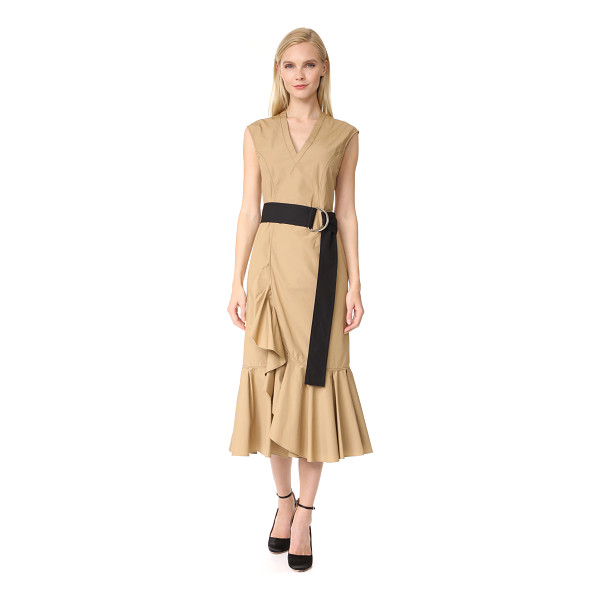 DEREK LAM 10 CROSBY sleeveless ruffle hem dress - This Derek Lam 10 Crosby dress is detailed with a flounced...