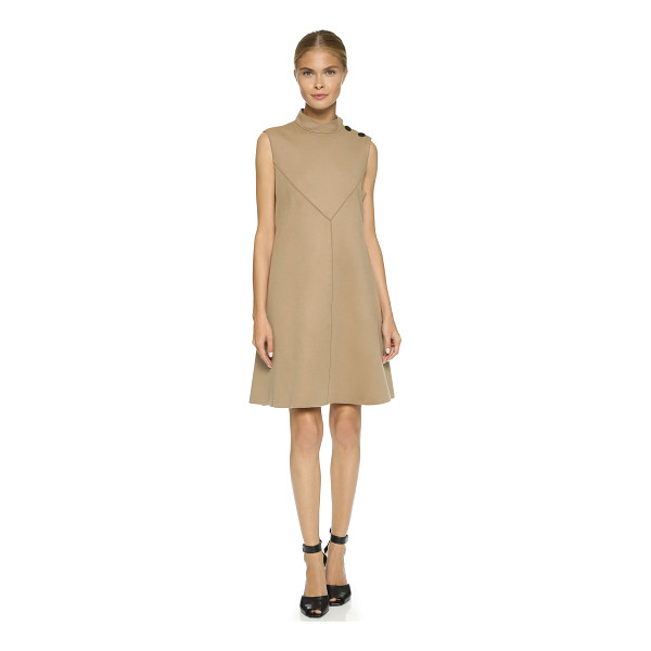 DEREK LAM Sleeveless flare dress - A mod Derek Lam shift dress with polished buttons at the...